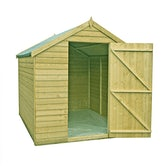 shire value pressure treated overlap apex shed 8ft x 6ft 3