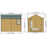 shire warwick dt shiplap shed dimensions