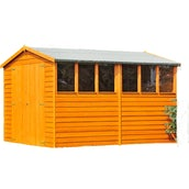 Shire Window Overlap Apex Shed - 6ft x 10ft (1790mm x 2990mm)