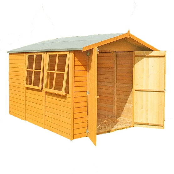 shire window overlap apex shed 10ft 7ft 1