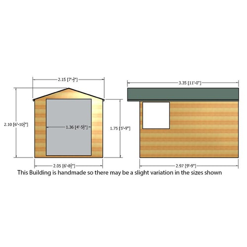 shire window overlap apex shed 10ft 7ft 14