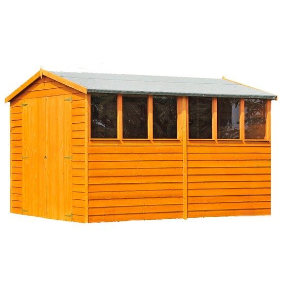 shire window overlap apex shed 10ft 8ft 1