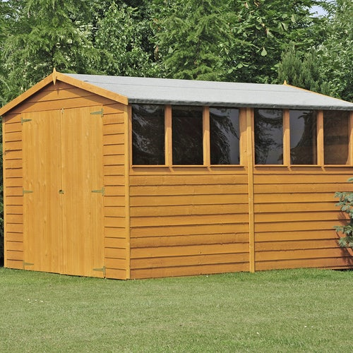 shire window overlap apex shed 10ft 8ft 2