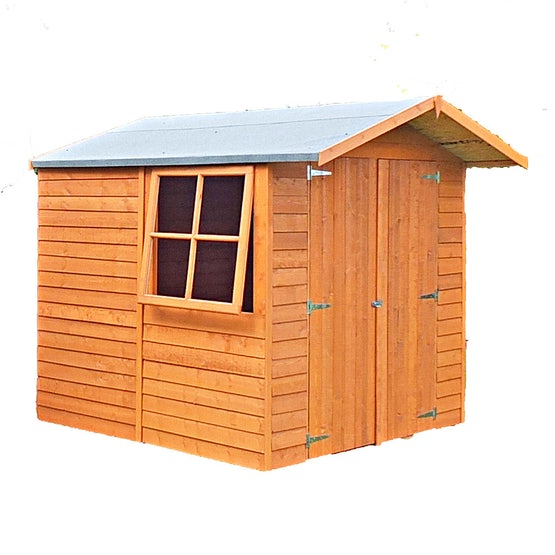 shire window overlap apex shed 7ft x 7ft 1