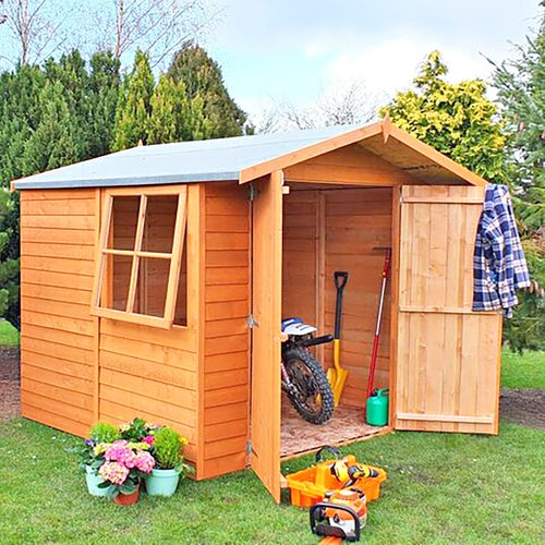 shire window overlap apex shed 7ft x 7ft 5