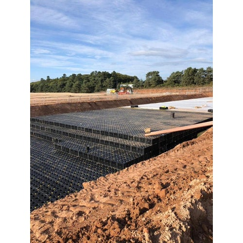 stormmaster lite soakaway and attenuation crate installation 3