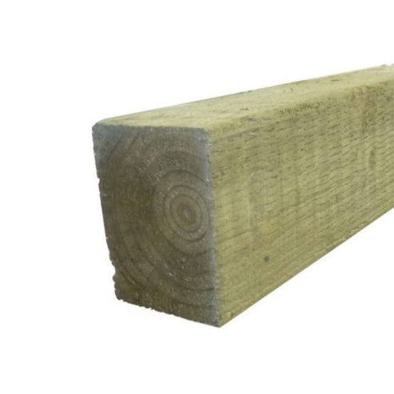 uc4 green treated incised timber fence post