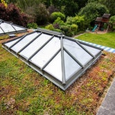 wallbarn m tray green roof and flat roof lanterns