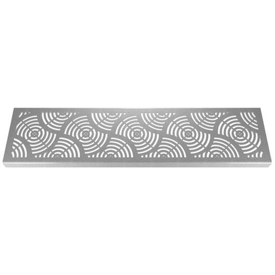 waves stainless steel drain grate