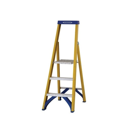 werner trade fibreglass stepladder