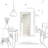 xl joinery internal white primed 6p bifold door