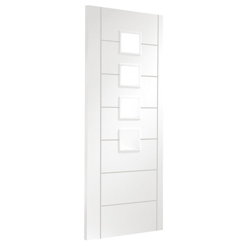 xl joinery palermo white primed obscure glazed internal door angled