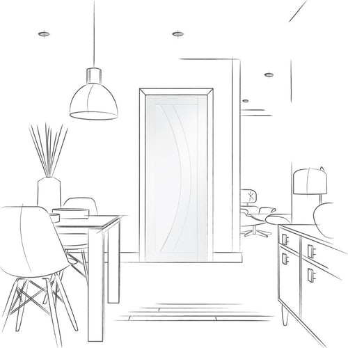 xl joinery salerno flush internal white primed door drawing