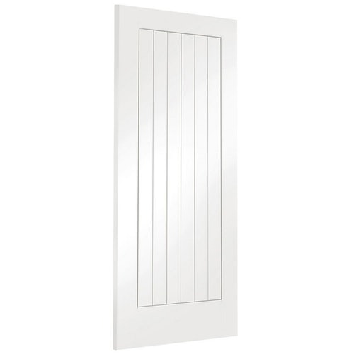 xl joinery suffolk internal white primed vertical panel flush cottage door angled