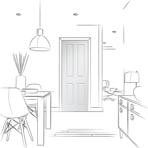 xl joinery victorian 4 panel internal white door drawing