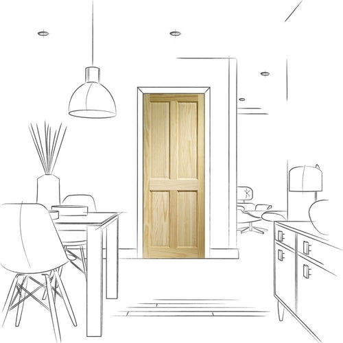 xl joinery victorian 4 panelled internal pine door drawing