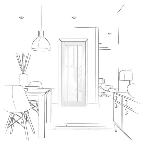 xl joinery worcester white primed glazed internal door drawing