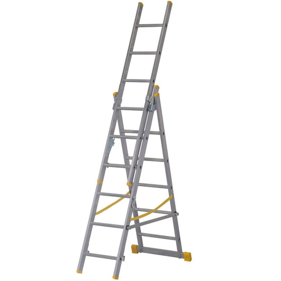 youngman combi 100 4 way combination ladder 3 section