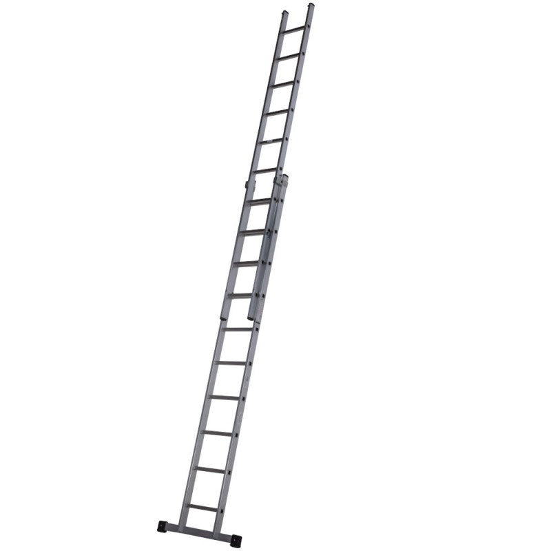Youngman Trade 200 3-Section Push Up Extension Ladder - 2.51m to 5.70m