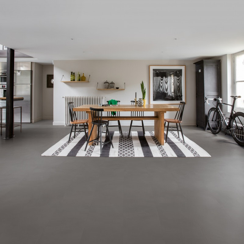 Quick-Step Vinyl Ambient Click LVT Plank Minimal Medium Grey
