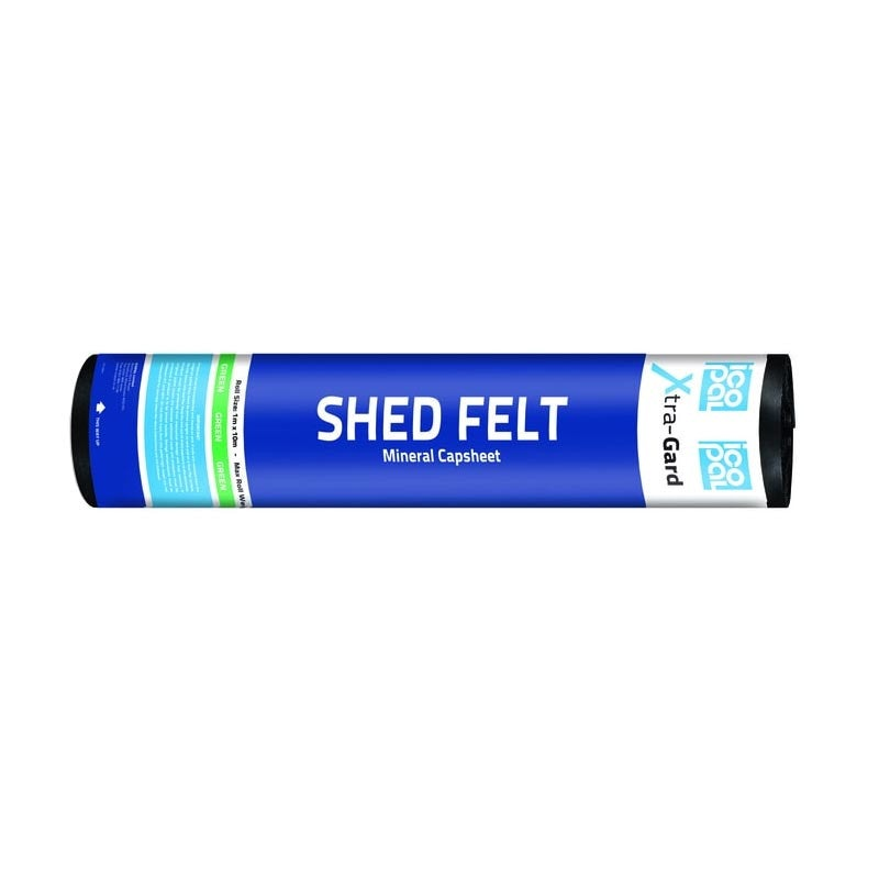 Anderson Xtra-Gard Shed Felt Roll in Green - 10m x 1m