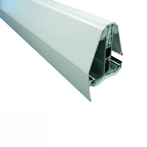 Ariel Self-Supporting Polycarbonate Roofing End Glazing Bar in White