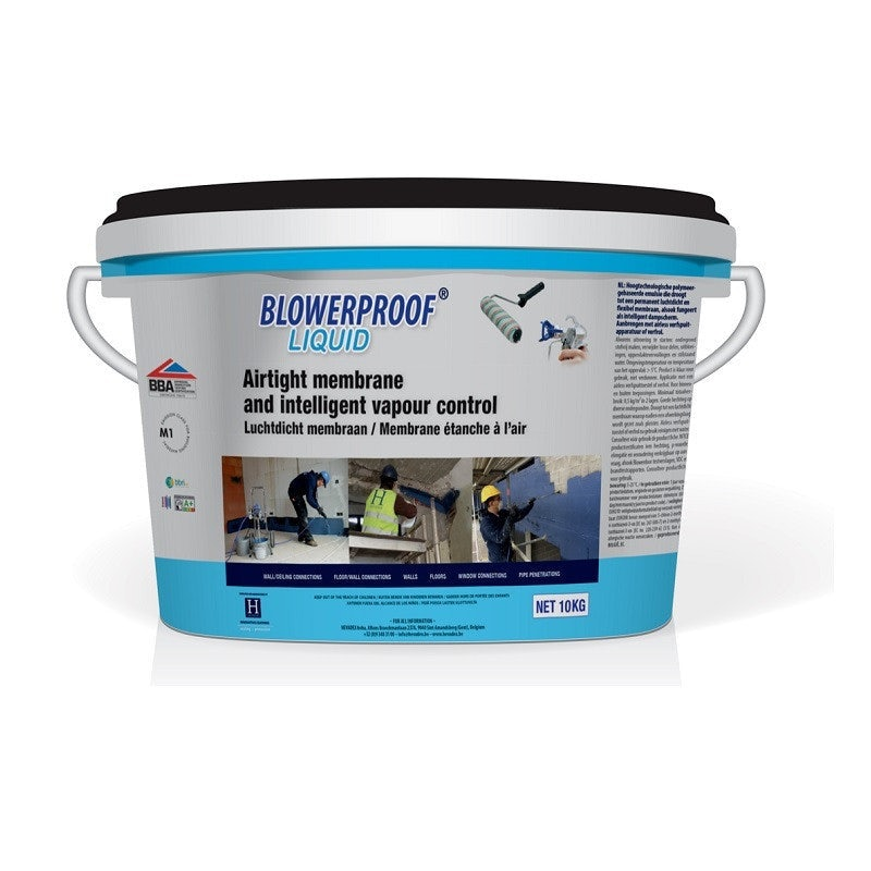Blowerproof Liquid Roller/Spray Blue/Black 10kg