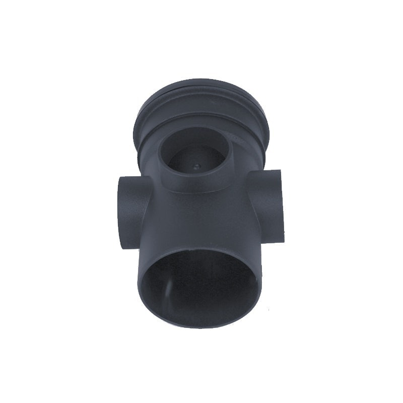 Brett Martin Cascade Cast Iron Style 110mm Plastic Single Socket Triple Boss Pipe