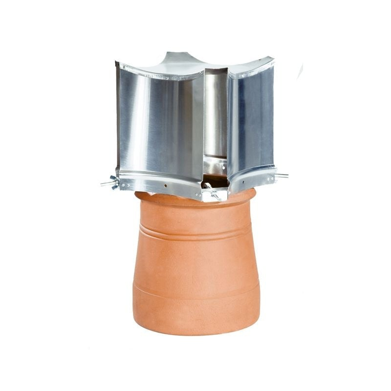 Brewer Cowls Aerodyne 150 to 240mm Clamp Fix Solid Fuel Chimney Cowl