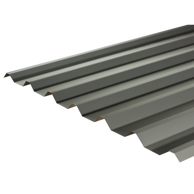 Cladco 34/1000 Box Profile PVC Plastisol 0.7mm Metal Roof Sheet in Merlin Grey