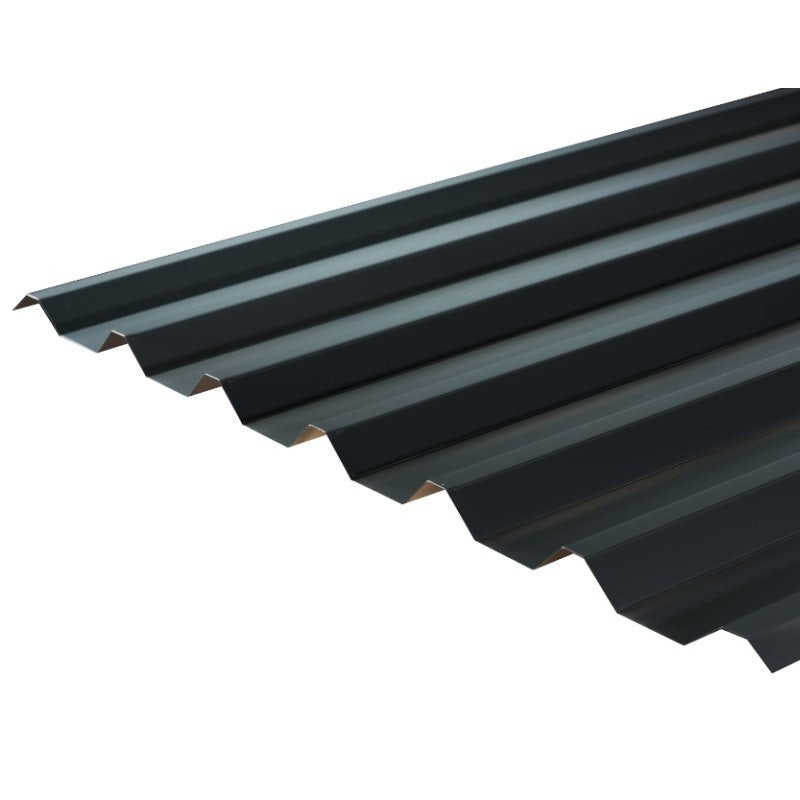 Cladco 34/1000 Box Profile Polyester Paint Coated 0.7mm Metal Roof Sheet in Slate Blue