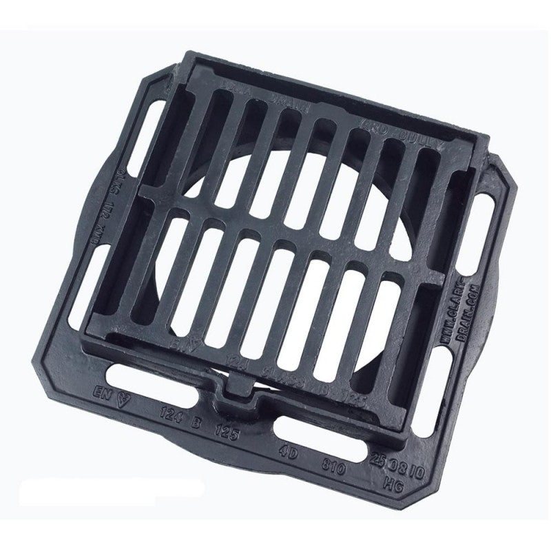 Clark Drain B125 Load Class Hinged Gully Grid Cover for Inspection Chamber 280mm