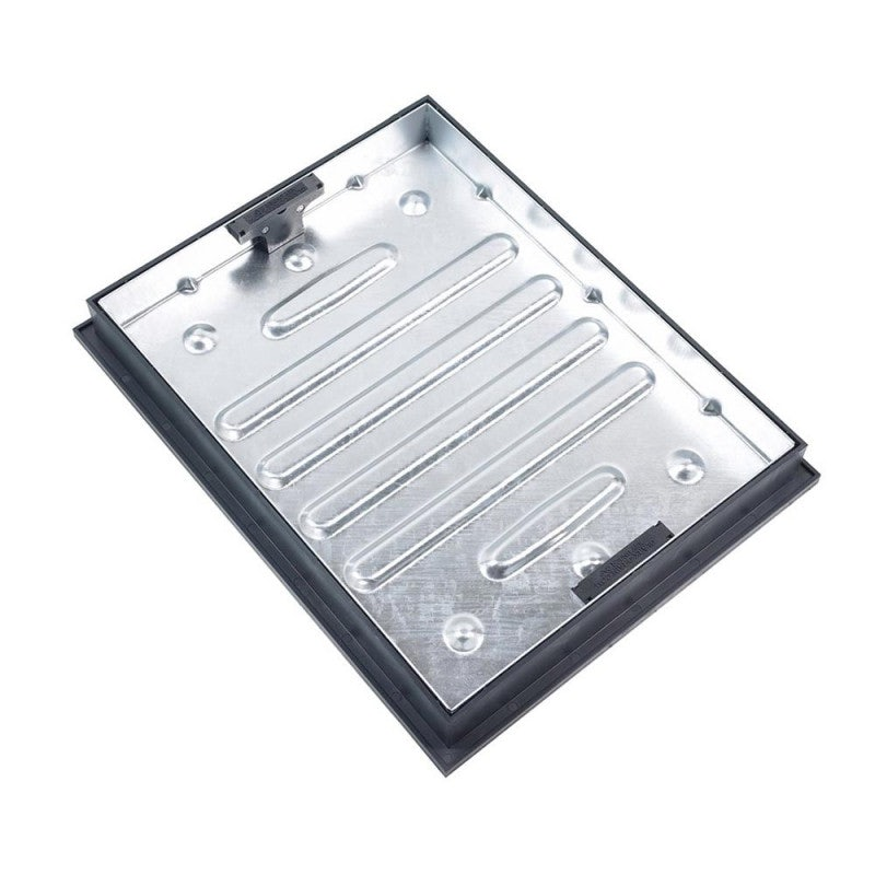 Clark Drain 10 Tonne GPW Recessed Manhole Cover and Frame - 600 x 450 x 65mm