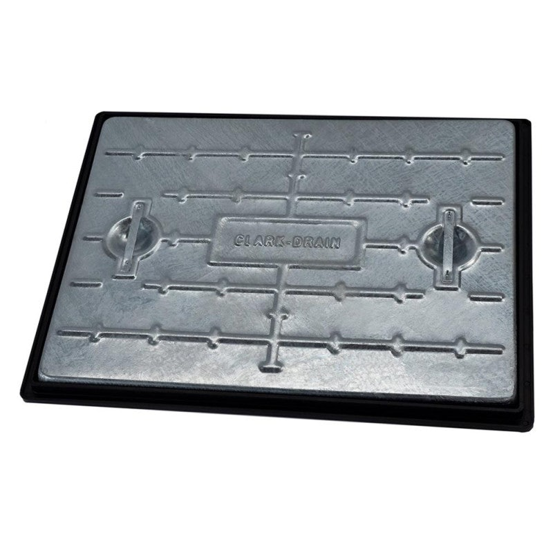 Clark Drain 25 Tonne GPW Steel Manhole Cover and Frame 600 x 450 x 30mm