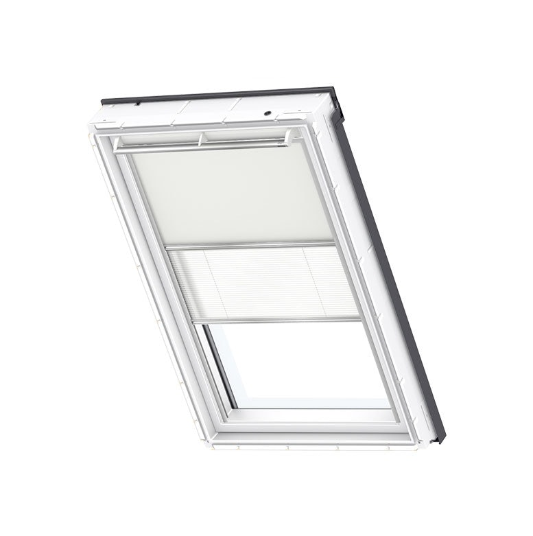 VELUX Duo Blackout Blind in Light Beige/White