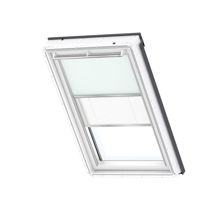 VELUX Duo Blackout Blind in Pale Blue/White