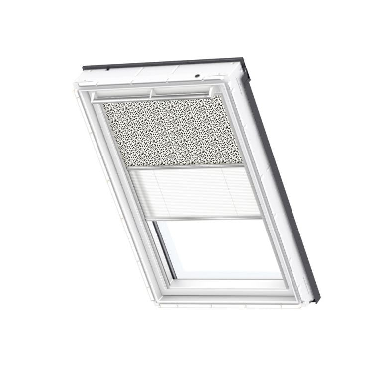 VELUX Duo Blackout Blind in Graphic Pattern/White