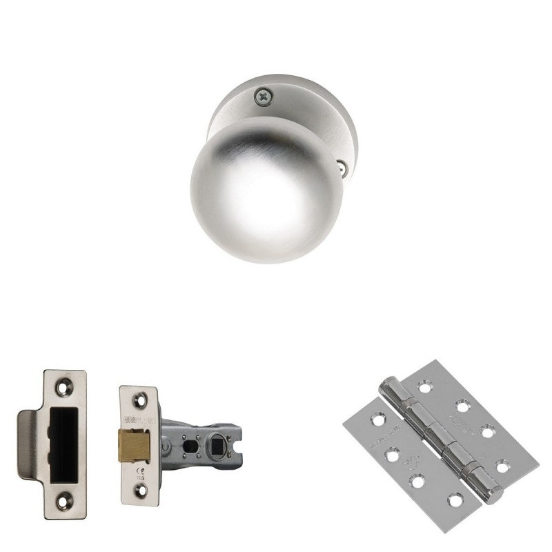 XL Joinery Elbe Satin Chrome Fire Door Handle Pack