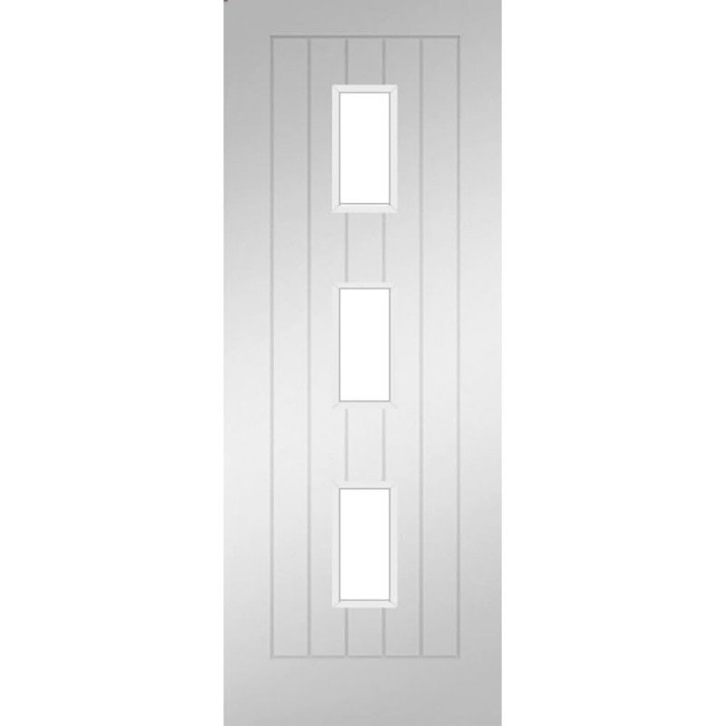 Deanta Internal White Primed Ely 3 Light Glazed Door