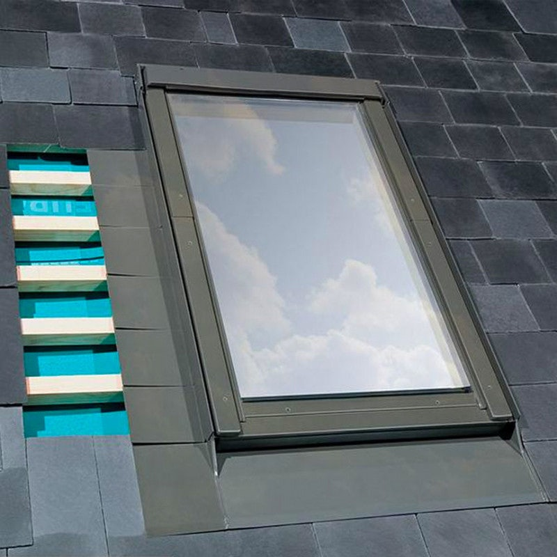 FAKRO ELV-B1/2/10 Vertical Twin Flashing For Up To 10mm Slate Roof - 114cm x 118cm
