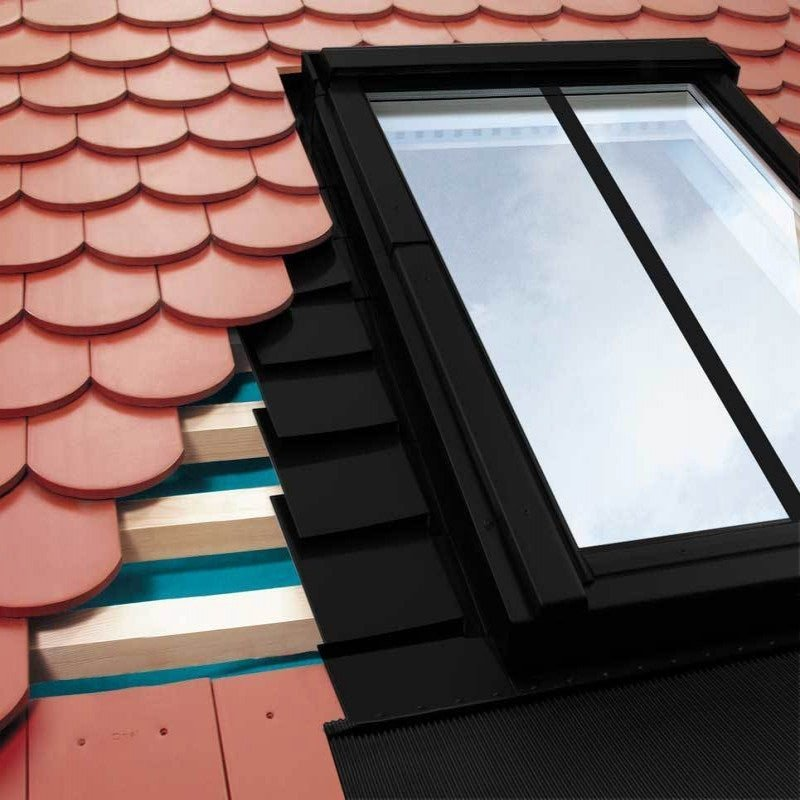 FAKRO EPV/C B2/1/02 Horizontal Twin Conservation Flashing For Up To 16mm Plain Tiles  - 55cm x 98cm