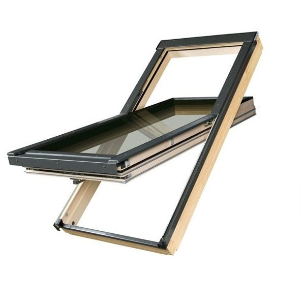FAKRO FTT U8 Thermo Pine Off-Centre Pivot Roof Window