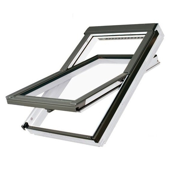 FAKRO FTT/W White Painted Off-Centre Pivot Roof Window