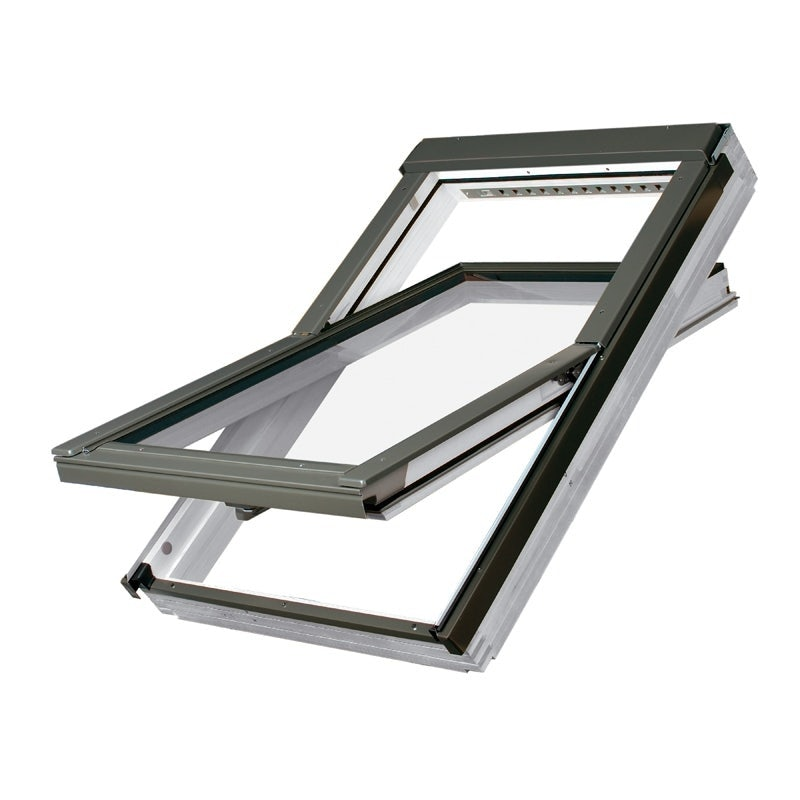 FAKRO FTW-V White Painted Centre Pivot Roof Window