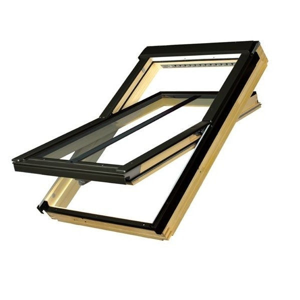 FAKRO FTP-V/C Pine Recessed Conservation Roof Window for Tiles