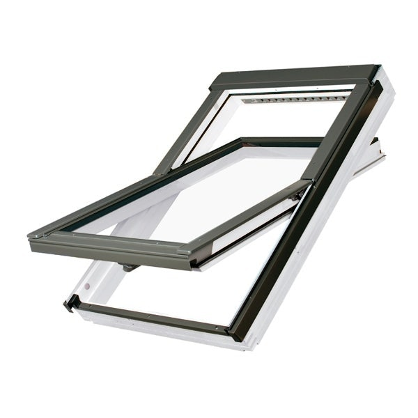 FAKRO PTP-V White PVC Centre Pivot Roof Window