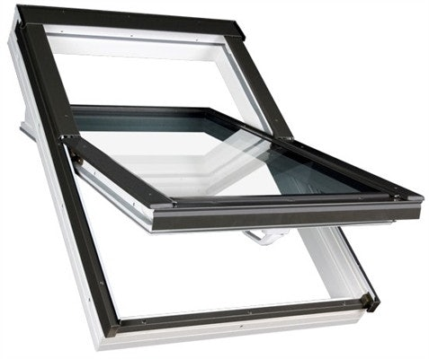 FAKRO PTP Non Vented White PVC Centre Pivot Roof Window