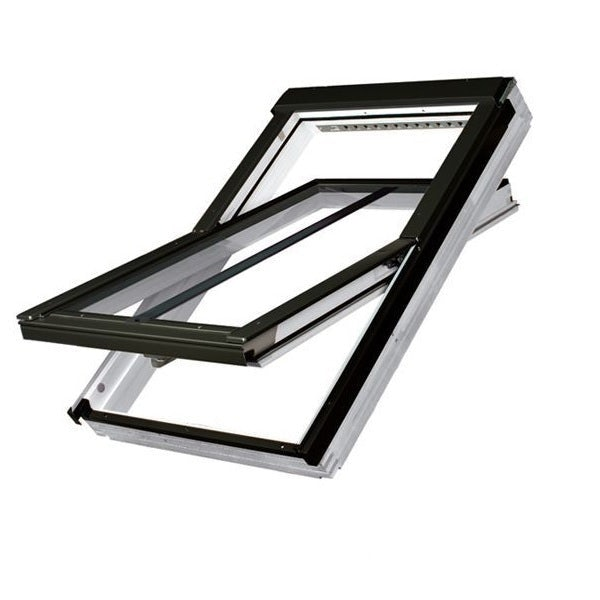 FAKRO FTT/U/C U8 Thermo Conservation White PU Off-Centre Pivot Roof Window