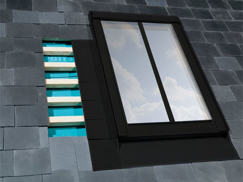 FAKRO ELV/C/CA Duet proSky Window Conservation Flashing For Up To 10mm Slate Tiles - 78cm x 186cm