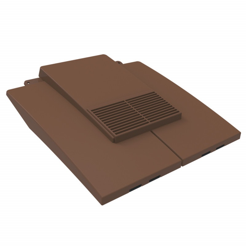 Manthorpe Plain Tile Vent (7000mm Airflow) - Dark Brown